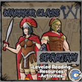Warrior Class - Spartan Resources - Differentiated Leveled Reading & INB