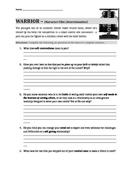 Warrior (Movie Guide) Classroom Questions