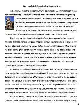 Caesar Nero Persecution of Christianity Historical Fiction reading and questions