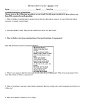 Warriors Don't Cry (Abridged) Chapter Questions and Quarter Sheet Quizzes