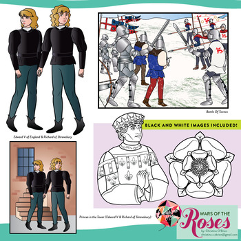 Wars of the Roses Clip Art Set