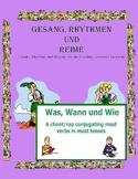 German Musical Chant Comparing All Verb Forms - Was, Wann und Wie