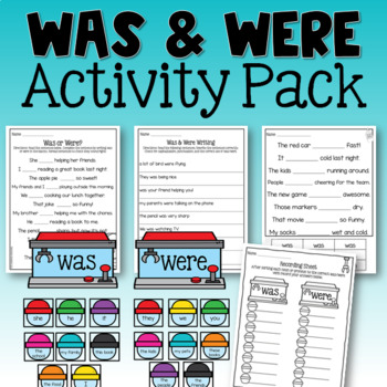 Was and Were Verb Activities