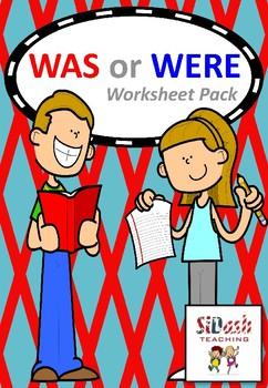 Was, Were, Wasn't or Weren't Worksheet Pack