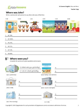 Was and Were - You're a Suspect! A2 - Upper Beginner Lesson - ESL / EFL