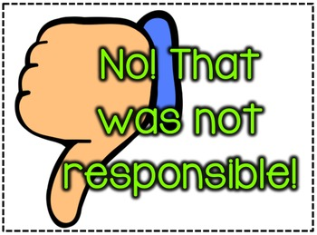 """Was that Responsible?"" Responsibility Cards"