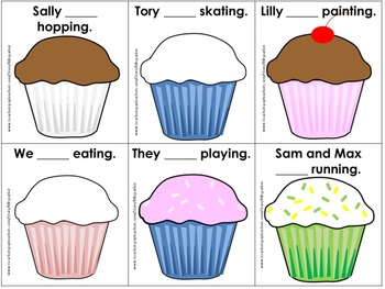 """Was/Were"" Grammar Practice Cupcake Game grades K-2"