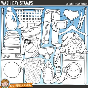 "Laundry / Chores Clip Art: ""Wash Day"""