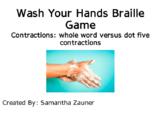 Wash Your Hands Braille File Folder Game