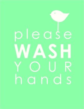 Wash Your Hands Classroom Sign