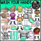 Wash Your Hands Clip Art Bundle {Educlips Clipart}