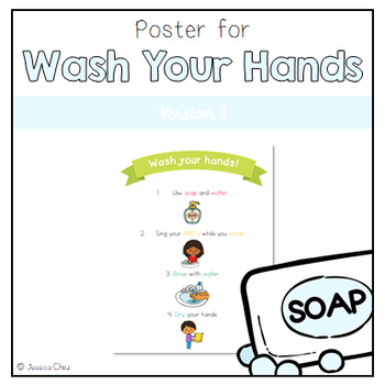 Wash Your Hands Poster v. II