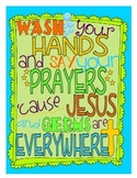 Wash Your Hands and Say Your Prayers Poster