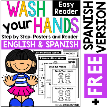 Wash your Hands Poster and Readers (plus Free Spanish)
