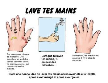 Wash your hands poster (en français)