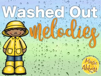 Washed Out Melodies {A Bundled Set of Games for Melodic Practice}