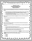Washed Up!, RFFC Comprehension Test Standardized Test Style ReadyGen 5th Grade