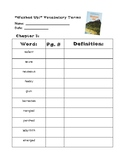 Washed Up! ReadyGen Chapter 3 -Vocabulary Terms & Reading