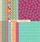 Washi Digital Printable Scrapbook Papers or Backgrounds