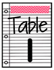 Washi Tape Table Numbers