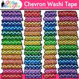Chevron Washi Tape Clip Art {Glitter Graphics & Page Eleme