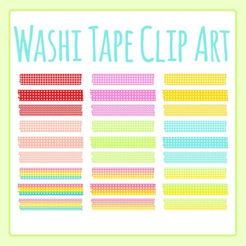 Washi Tape Clip Art Set for Commercial Use