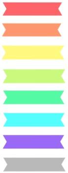 Rainbow washi tape clipart