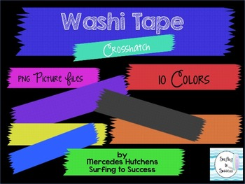 Washi Tape Clipart Accent Crosshatch