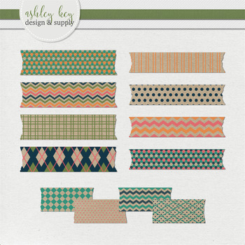 Washi Tape Clipart- Craft Paper Pop Collection