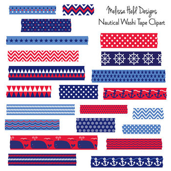 Washi Tape Clipart: Nautical Theme