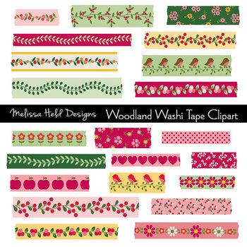 Washi Tape Clipart: Woodland Theme