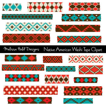 Native American Washi Tape Clipart by Scrapster by Melissa Held ...