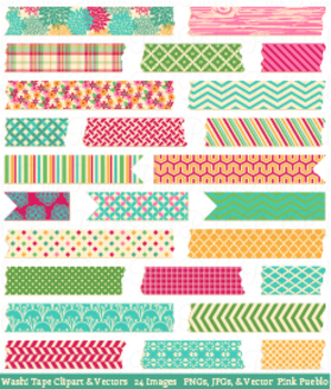 Washi Tape Clipart and Vectors