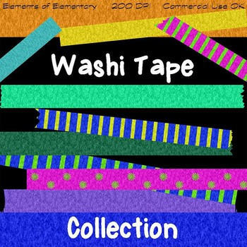 Washi Tape Collection - Clip Art for Commercial Use