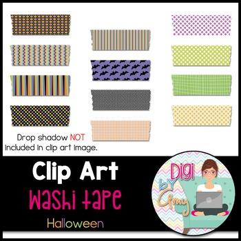 Washi Tape Clip Art - Halloween