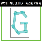 Washi Tape Letter Tracing