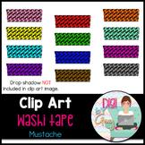 Washi Tape Clip Art Mustache