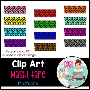 Washi Tape clipart - Mustache