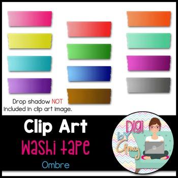 Washi Tape Clip Art - Ombre