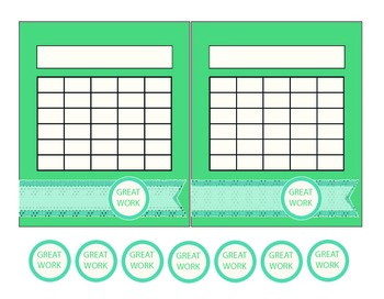 """Washi Tape"" Turquoise and Blue Incentive Charts"