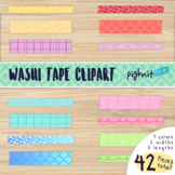 Washi tape clipart in three sizes for page accents