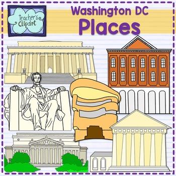 Washington DC important places {SOCIAL STUDIES CLIP ART}