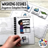 Washing Dishes Life Skills Adapted Book Sequencing