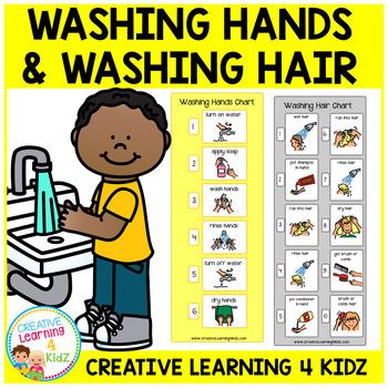 Washing Hair & Washing Hands Visual Charts