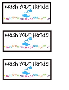 Washing Hands ABC sign