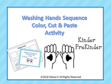 Washing Hands Sequence Color, Cut and Paste and Trace
