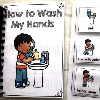 Washing Hands Life Skills Adapted Book Sequencing