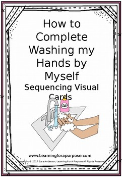 Washing Hands Visual Sequencing Cards