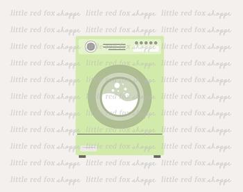 Washing Machine Clipart; Laundry, Washer, Cleaning