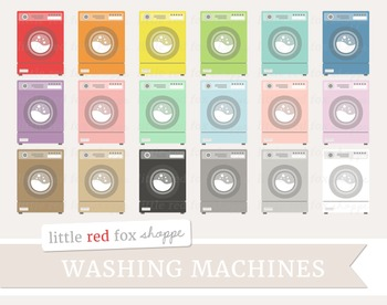 Washing Machine Clipart; Laundry, Washer, Cleaning